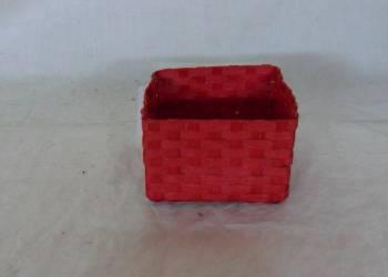 Home Storage Willow Basket Soft Woven Flat Paper Red Box