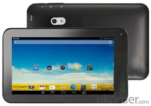 Capacitive Screen 7 Inch Allwinner A23 Dual Core Tablet PC Android 4.2 1GB RAM 8GB 1.5GHz Wifi 800*480 Dual Camera Black