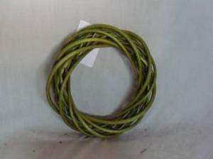 Home Decor Hot Selling Stained Willow-Woven Green Round Shape Deco