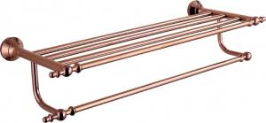 Hardware House Bathroom Accessories Rose Gold Series Bathroom Shelf With Towel Bar