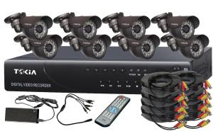 8CH Home Security System DVR KITS with 8pcs  Weatherproof cameras S-14