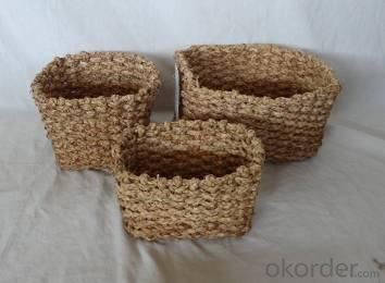 Home Storage Willow Basket Soft Woven Maize Box S/3