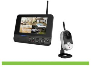 4CH Home Security Indoor Digital Wireless Camera DVR System With 7Inch LCD Monitor 8204JM4