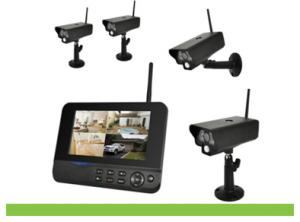 4CH Home Security Digital Wireless Camera DVR System With 7Inch LCD Monitor 8104JM4