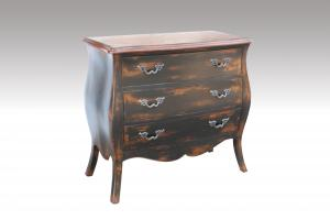 Home Furniture Classical Retro Colors 3 Drawer Chest Antique Pine Solid Wood