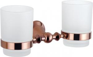 Hardware House Bathroom Accessories Rose Gold Series Double Tumbler Holder