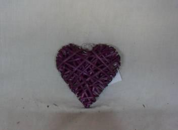 Home Decor Hot Selling Stained Willow-Woven Heart Deco