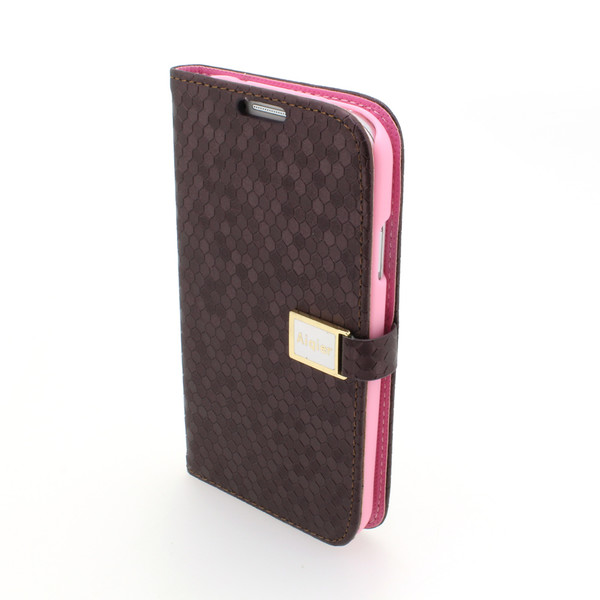 Pink Samsung Galaxy S4 (I9500) Wallet Pouch Luxury PU Leather Stand Book Style Case Cover