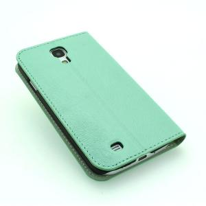 For Samsung Galaxy S4 (I9500) Wallet Pouch Luxury PU Leather Stand Case Cover Green
