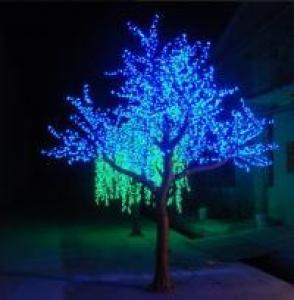 LED Artifical Peach Tree Lights Flower String Christmas Festival Decorative Light Pink/Purple/RGB 208W CM-SLFZ-3456L3