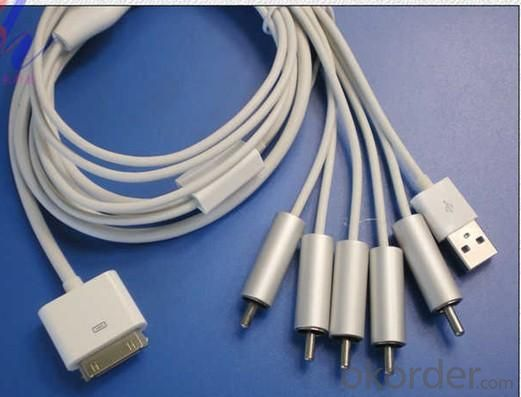 Apple Video Component Cable ORIGINAL IC iPhone 4/4GS IPAD2 iPhone3G/3GS iPod touch iPod classic iPod nano