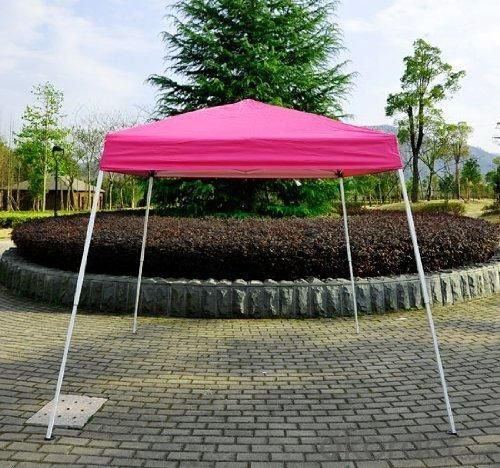 Hot Selling Outdoor Market Umbrella Red Full Iron Folding Tent