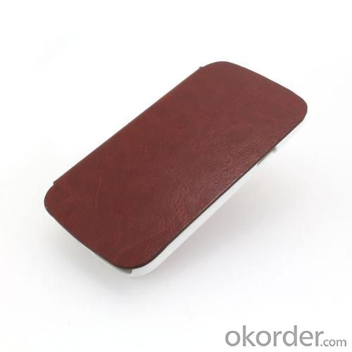 Brown Luxury PU Leather Case Cover for Samsung Galaxy S4 Mini (I9190)