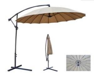Hot Selling Outdoor Market Umbrella Glass Fiber Offset Umbrella 160g Polyester