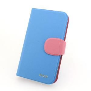 Hot Sale Wallet Pouch Luxury PU Stand Leather Case Cover for Samsung Galaxy S4 (I9500) Blue