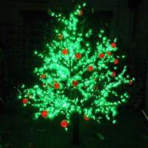 LED Fruit Tree String Christmas Festival Light Green Leaves+ Apple 75W CM-SLF-1248La