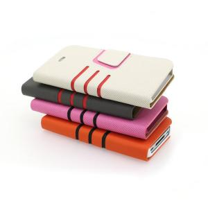 For iPhone4/4S Wallet Pouth Cross Pattern PU Leather Stand Case Cover White
