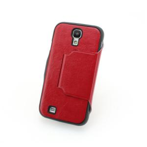 China Factory For Samsung Galaxy S4 I9500 Retro Leather Stand Case Cover With Auto Sleep Wake Smart Cover Red Multi Colors
