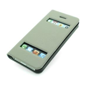 For iPhone 5 5s 5g 5gs S View Open Window Auto Wake Sleep PU Leather Case Smart Cover Grey Multi Colors From China Exporter