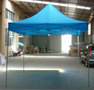 Hot Selling Outdoor Market Umbrella Full Iron Folding Light Blue Tent