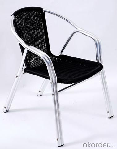 Hot Selling Outdoor Furniture Classical Outdoor Black Aluminum Rattan Chair