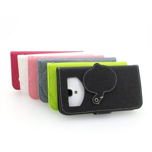 Hot Sale Pink Wallet Pouch Luxury PU Leather Case Cover for Samsung Galaxy S4 (I9500)