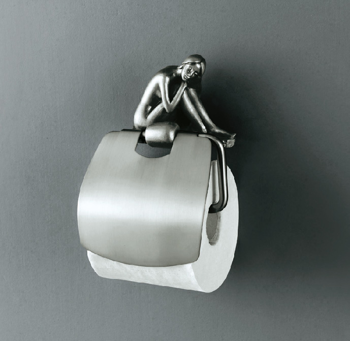 Artistic Bath Accessories Can Be Collection Silver Roll Holder