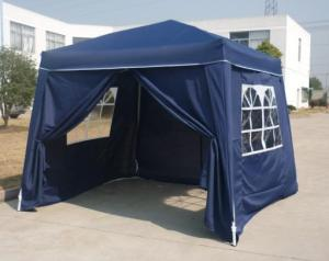 Hot Selling Outdoor Market Umbrella Full Iron Folding Oblique Feet Tent