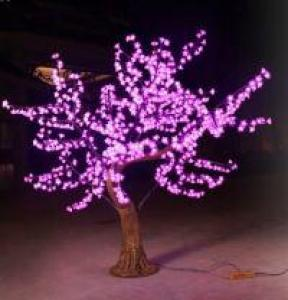 LED Artifical Cherry Tree Lights Flower String Christmas Festival Decorative LightRed/Yellow 46W CM-SLFZ-768L1