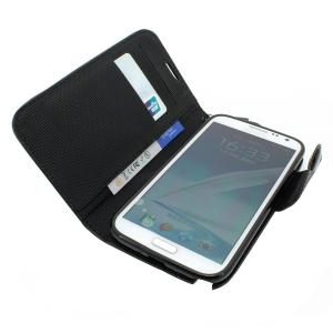 Wallet Pouch Luxury PU Stand Leather Case Cover for Samsung Galaxy Note 2/3 Black