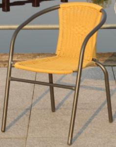 Hot Selling Outdoor Furniture Classical Outdoor Yellow Steel Rattan Armchair