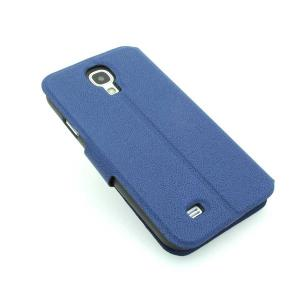 Wallet Pouch Luxury PU Leather Upstanding Case Cover for Samsung Galaxy S4 (I9500) Blue