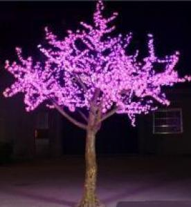LED Artifical Peach Tree Lights Flower String Christmas Festival Decorative Light Pink/Purple/RGB 175W CM-SLFZ-2916L3