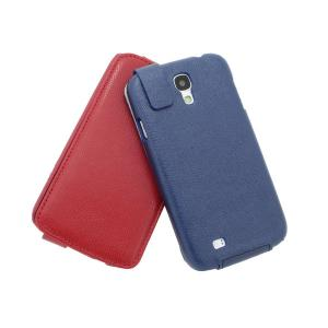 Luxury PU Leather Case Cover for Samsung Galaxy S4 (I9500) Flip Style Red