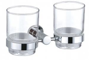 Luxury Bath Accessories Modern Chrome-plated Double Tumbler Holder