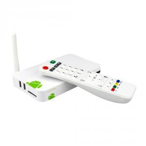 Andriod 4.2 Dual Core 1080P HD Smart TV Box 1GB DRR3 4GB Nand Flash Streaming Android TV Player White