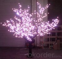 LED Tree Light Peach Flower String Christmas Festival Decorative Light Blue/Green/White 52W CM-SLP-864L2