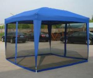 Hot Selling Outdoor Market Umbrella Blue Full Iron Folding Tent