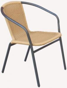 Hot Selling Outdoor Furniture Classical Outdoor Cream-colored Steel Rattan Chair