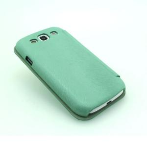 Green Luxury PU Leather Case for Samsung Galaxy S3 (I9300) Wallet Pouch Cover