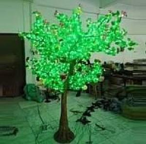 LED Artifical Real Cuckoo Tree Lights Flower String Christmas Festival Decorative Light Green 70W CM-SLGFZ-1152L