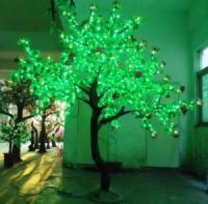 LED Artifical Real Cuckoo Tree Lights Flower String Christmas Festival Decorative Light Green 104W CM-SLGFZ-1728L