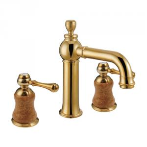 Newest Two Brass Handle Gold Plated Faucet