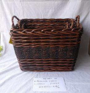 High Quality Home Organization Home Storage Basket Rectangle Woven Basket