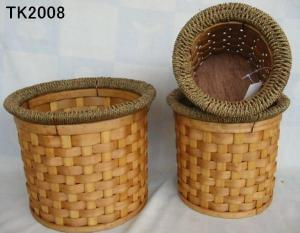 Hot Sale Home Storage Round Shape Set Of Three Basket