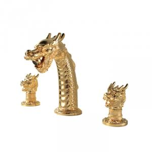 Double Hadle Gold Plated Faucet