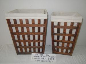 Home Organization Hand Made Wooden Basket Home Storage Basket 3Pcs/Set