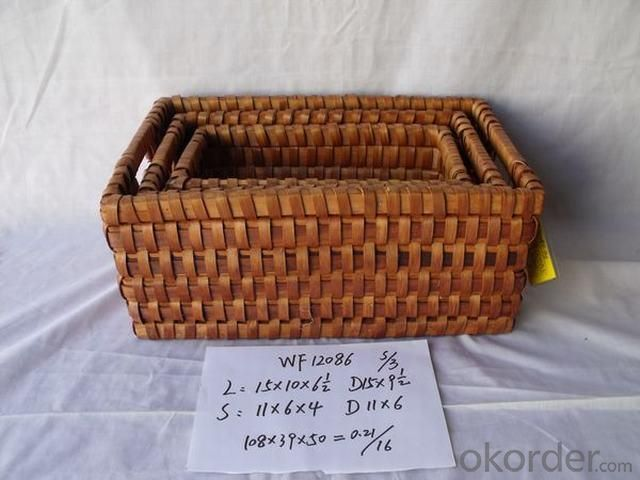 High Quality Home Storage Set Of Three Chips Basket