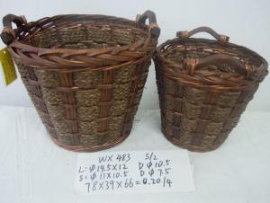 Home Organization Hand Made Round Shape Home Storage Basket 2Pcs/Set