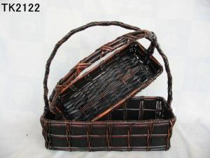 Hot Sale Home Storage Set Of Two Willow Basket With Handle
